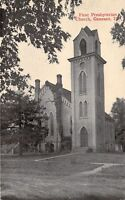 Geneseo Illinois~First Presbyterian Church By Trees~1910 B&W Postcard