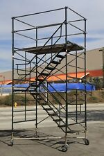 """SCAFFOLD STAIRWAY CASE ROLLING TOWER 5' X 7' X 11'7"""" to 12' 7"""" DECK HIGH CBM1290"""