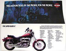 1983 HARLEY NOS MODEL SALES BROCHURE FXR FXE FXSB FXRS FXWG XLX XLH XLS FLT FLHT