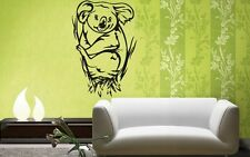 Wall Stickers Vinyl Decal Bamboo Sloth Funny Animal Lazy For Kids ig246