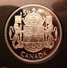 Scarce 1953 - 2003 Canada Proof Half Dollar Sterling Silver Coin Young Bust **