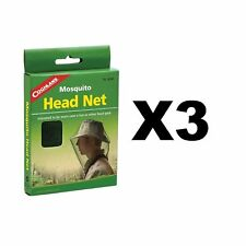 Coghlan's Mosquito Head Net Unisex Bug Netting Outdoor Camping Fishing (3-Pack)