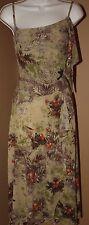 ISABEL DE PEDRO Green Brown Dress 2 XS S Bird Tree Fruit AMAZING
