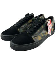 Vans Mens Old Skool Black Woodland Camo Canvas Suede Skate shoes Size 11.5 NWT