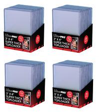(100 / 4 Packs) Ultra Pro Super Thick 75pt Toploader Card Holders