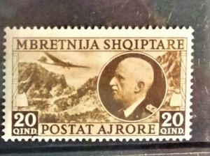 Albania under Italian rule 1939 air mail single mint stamp cat. value £110