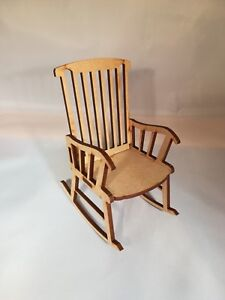 Mdf Rocking Chair craft Christmas in memory mini chair craft kit 109mm tall