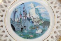 Vintage Cinderellas Castle Matterhorn Decorative Plate Walt Disney Disneyland