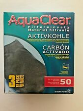 AquaClear Aqua Clear 50 (200) Aquarium Filter 3-pack Carbon A-1384 A1384