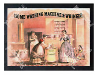 Historic home washer and wringer, 1870s. Advertising Postcard