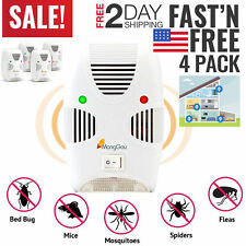 Ultrasonic Pest Repeller Control Bed Bugs Ants Fleas Spiders Rats Mice Rodents