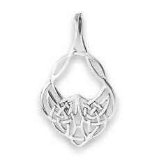 Wicked 925 Sterling Silver Drop Style Knot CELTIC Pendant Charm