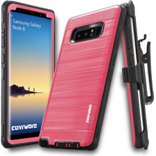 Samsung Galaxy Note 8 Full Body Cover Case With Belt Clip Pink