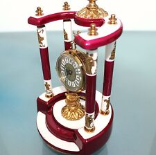 CLOCK Mantel Alarm BLESSING Porcelain UNUSUAL Clock Germany Mid Century Vintage