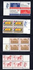 (4) US Stamps NH Mint Zip Code Blocks * 10¢ to 15¢ * #1543-46, 1705, 1802, #1772
