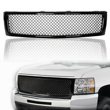 Black ABS Front Upper Bumper Mesh Grille for 2007-2013 Chevy Silverado 1500 New