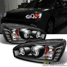 Black 2004-2007 Chevy Malibu Halo Projector LED Headlights Headlamps 04 05 06 07