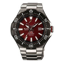 ORIENT M-Force Deep Red Dial Sports Men Watch Stainless Steel Delta SEL07002H0