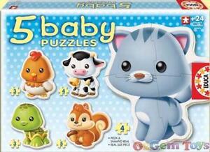 Animals 5 Baby Puzzles Educa