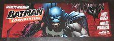 "Dc Comics 2008 Batman Banner Poster Signed Whilce Portacio Autograph 34 x 11"""