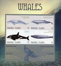 Marshall Islands 2018 Mnh Whales Sperm Killer Whale 4v M/S Marine Animals Stamps