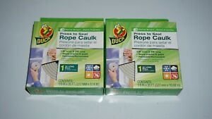 (2 Lot) Brand Press To Seal Rope Caulk, White 1/8-Inch Wide X 35-Feet Long