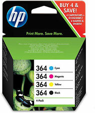 Set of 4 Original Genuine HP 364 Ink Cartridges Photosmart Printers 5510 B110a