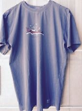 Life is Good short sleeve t-shirt Blue with boat graphic Size Small