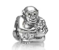 PANDORA | STERLING SILVER CHIMP FAMILY CHARM 790422 *NEW* Monkey Authentic ALE