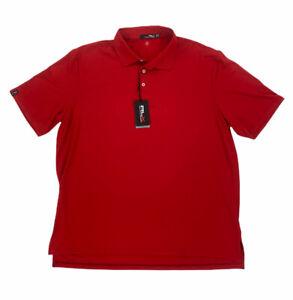 NEW RLX Ralph Lauren Short Sleeve Wicking Golf Polo Shirt Red Mens Size 2XL NWT