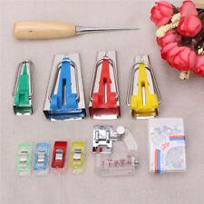 1 Set À faire soi-même Outils pour coudre Quilting alêne et Liant Pied Case Bias Tape Maker Kit