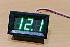 4.5v - 99.9v DC 3 Wire Green LED Panel LED Display Voltage Meter Voltmeter