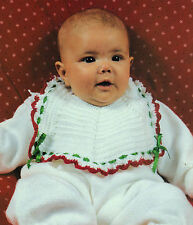 PRETTY Christmas Baby Bib/Crochet Pattern Instructions