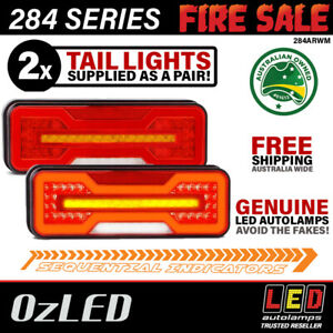 PAIR 284 Series LED Stop/Tail/Ind & Rev LED Tail Lights Halo & Sequential