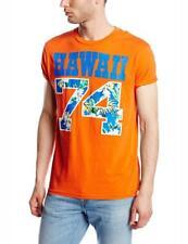 Franklin & Marshall Homme T shirt Orange imprimé