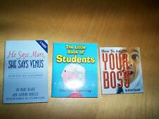 3 little books students, how to amaze your boss, he says mars she says venus