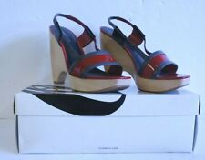 Nine West 'Whipped' Red Heeled Sandal (UK Size 7)