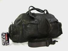 NEW Ralph Lauren Black Label Denim Distressed Leather Carry-On Duffle Gym Bag