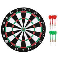 12 inch sport two-sided target dart flocking dartboard dart board for fun gam Bh