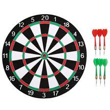 12 Inch Sport Two-sided Target Dart Flocking Dartboard Dart Board for Fun Game D