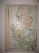 ANTIQUE 1899 LUZON PHILIPPINES PHILIPPINE ISLANDS DATED MAP SUPERB DETAILED RARE