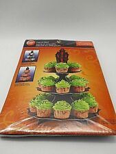 """Wilton Cupcake Stand Halloween 3 tier 11.75"""" wide 15"""" high holds 24 cupcakes new"""