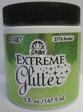 New Plaid Folk Art Extreme Peridot Glitter Acrylic Paint 5 fl.oz/147.9ml #2776