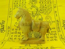 Horse Stone Carved Old Sculpture Statue Antique Artifact Thai Amulet Jewelry