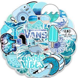 UK VSCO Blue Stickers for Hydro Flask 53Pc Cartoon Phone Laptop Cute Sticker NEW