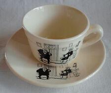 Tasse à café : Humour, J. Faisant , faïencerie de St Amand