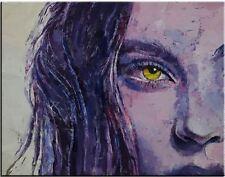 "Beautiful American Siren Woman portrait oil painting on canvas wall art 28x36"""