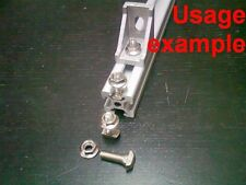 Aluminum T-slot profile 6T-20 drop-in T-studs-bolts-screws M5x16mm +nuts, 16-set