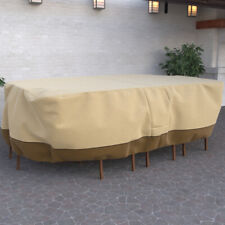 Outdoor Premium Waterproof Furniture Rectangular Patio Set Table Chair Cover Xl