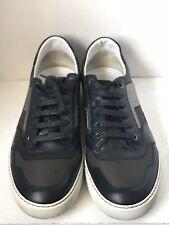 Lanvin Men's Black Suede Leather Canvas Lace Up Sneakers Size 10